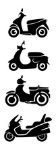 Set Of Motorcycle Silhouettes ...