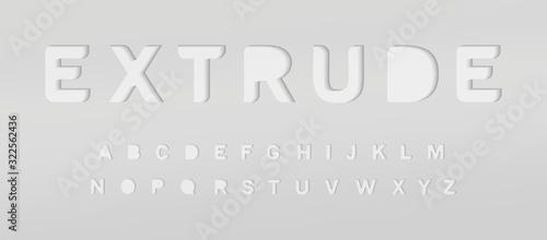 Fotografia Extruded grey alphabet