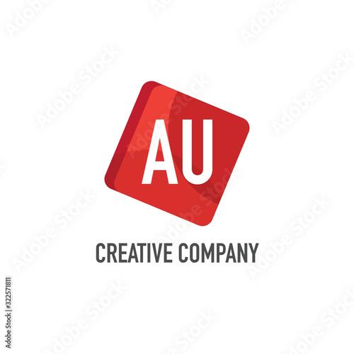 Photo Initial Letter au Logo Template Design