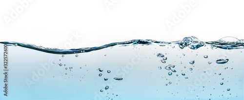 Photo Abstract water wave splash isolated on white background.