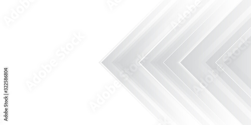 White arrow abstract background for presentation design. Horizontal landscape orientation.