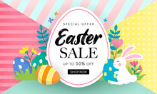 Easter Sale Banner Background ...