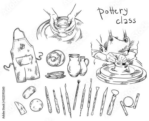 Canvas-taulu Pottery class