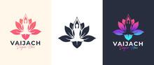 Yoga Lotus Flower Logo Design
