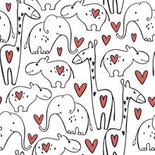 Vector Valentine's Day Seamles...