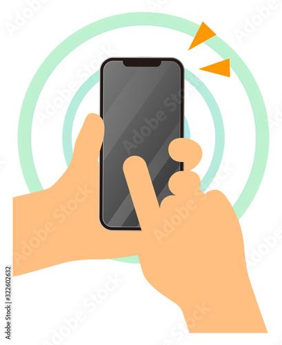 Obraz na plátně スマートフォンを使う