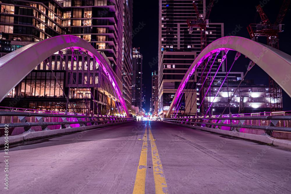 Fototapeta The skyline in the city of Austin.