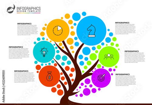 Fotografía Infographic design template. Creative concept with 6 steps
