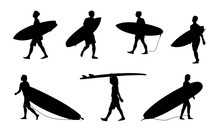 Black Surfers With Surfboards ...