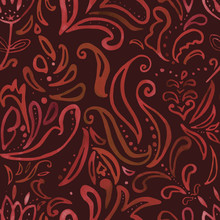 Seamless Floral Pattern On A B...