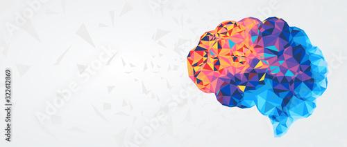 Obraz na plátně Abstract human brain