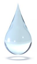 Drop Of Water Isolated On Whit...