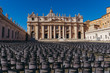 Vatican. Empty chairs in a square near the Vatican. Rome. Italy.