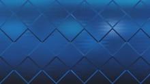 Abstract Dark Blue Geometric S...