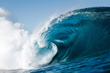 Wave Breaking On A Beach In Ca...
