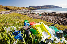 Plastic Rubbish Washed Up At T...