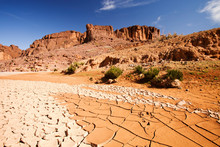 A Dried Up River Bed In The An...
