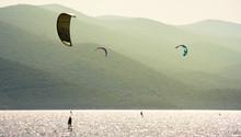 Kite Surfing Near Korcula