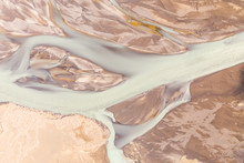 Aerial View Of Frozen Waters Norurland Eystra, Iceland