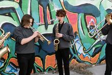 High School Jazz Band Brass Mu...