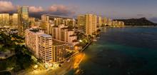 Aerial Panorama Of Waikiki Bea...