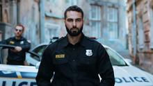Portrait Serious Young Man Cop...