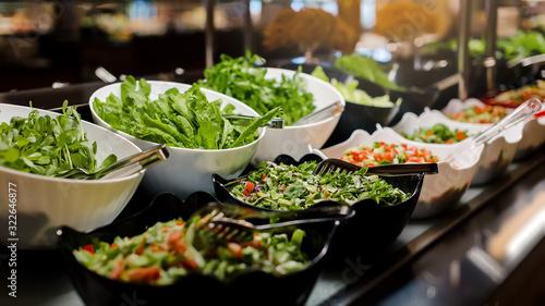 Vegetarian culinary buffet Canvas Print