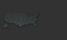 3d Rendering Map Of United Sta...
