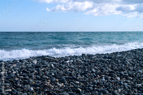Fotomural Empty pebble beach