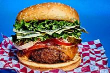 Studio Shot Of Hamburger