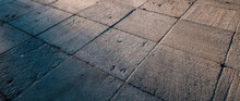 Abstract Stone Brick Surface Cement Road As Texture Background