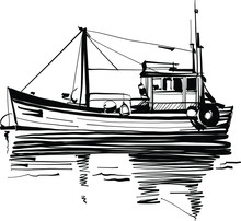 Fishing Commercial Ship In The...