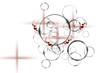 Kreise, Seifenblasen, kleine rotbraunen Herzen, Abstrakt grau silber rot Kreise, Herzen, Bild und Grafik Design, Effekte Hintergrund, Moderne Muster, Tapeten oder Banner Design.
