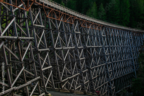Fotografie, Tablou Kinsol Trestle train bridge on Vancouver Island