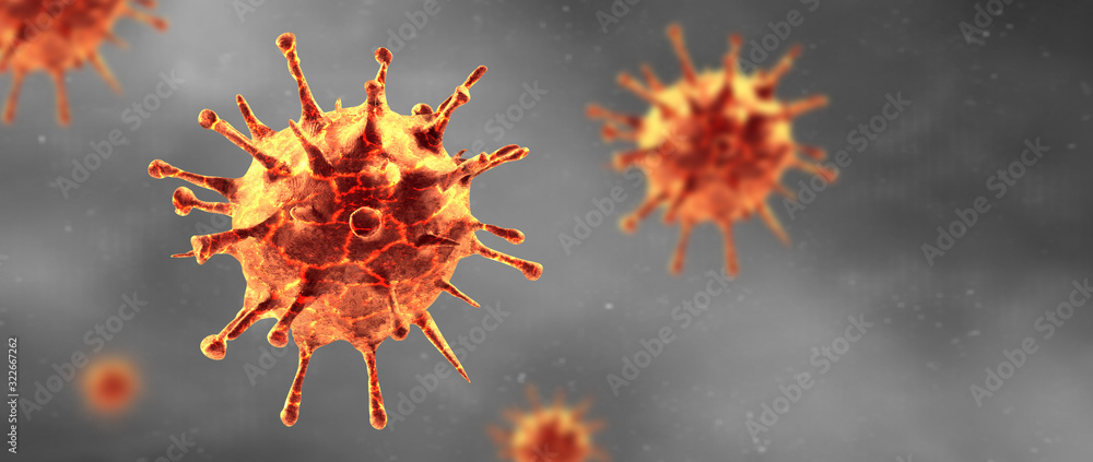 Fototapeta New coronavirus 2019-ncov. 3D illustration