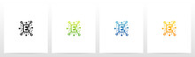 Network Symbol On Letter Logo...
