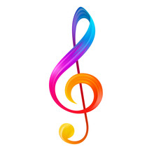 Rainbow Treble Clef Musical No...