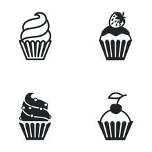 Cupcake Icon Template Color Ed...