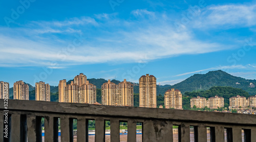 High residential blocks of flats in Chongqing city Canvas Print