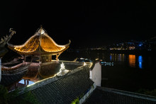 Zhang Fei Temple At Night