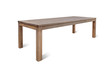 natural teak wood table with a white background