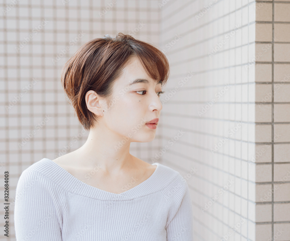 Fototapeta hairstyle short