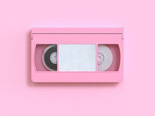 Pink Video Tape Cassette 3d Re...