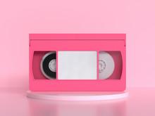 Pink Video Tape Cassette 3d Re...