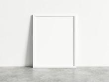 Vertical Empty White Frame Moc...