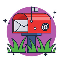 Mail Box Post Illustration