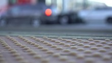 Train Platform Stand Back Yellow Line In San Francisco