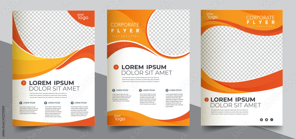 Fototapeta Brochure design, cover modern layout, annual report, poster, flyer in A4