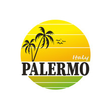 Palermo In Italy, Vector Carto...