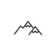 Simple Mountain Line Icon.
